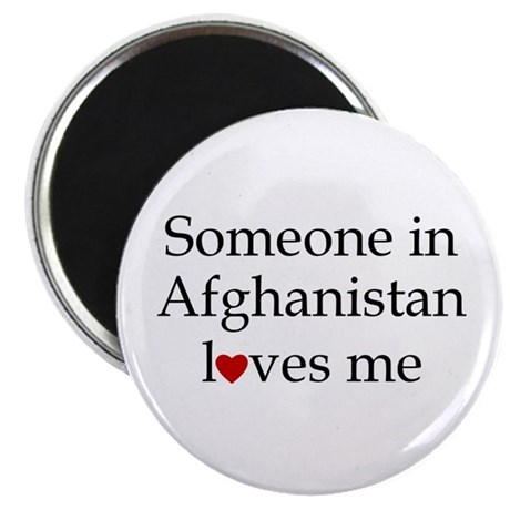 Someone in Afghanistan... Magnet