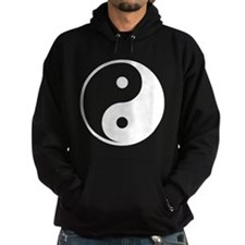 White Yin-Yang Hoodie