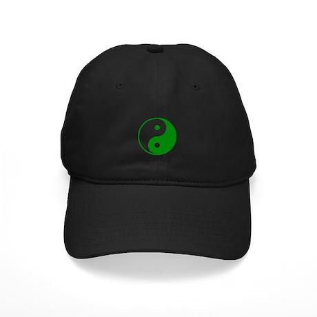 Green Yin-Yang Black Cap