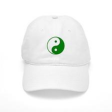 Green Yin-Yang Baseball Cap