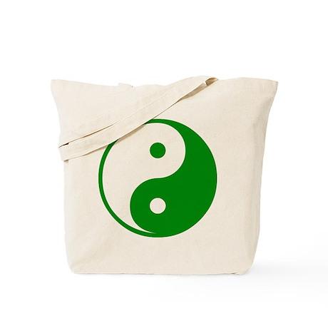 Green Yin-Yang Tote Bag