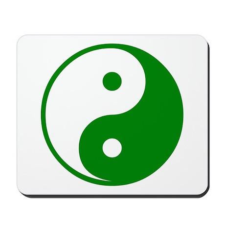 Green Yin-Yang Mousepad