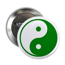 "Green Yin-Yang 2.25"" Button (100 pack)"