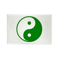 Green Yin-Yang Rectangle Magnet (10 pack)