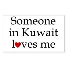 Someone in Kuwait... Rectangle Decal