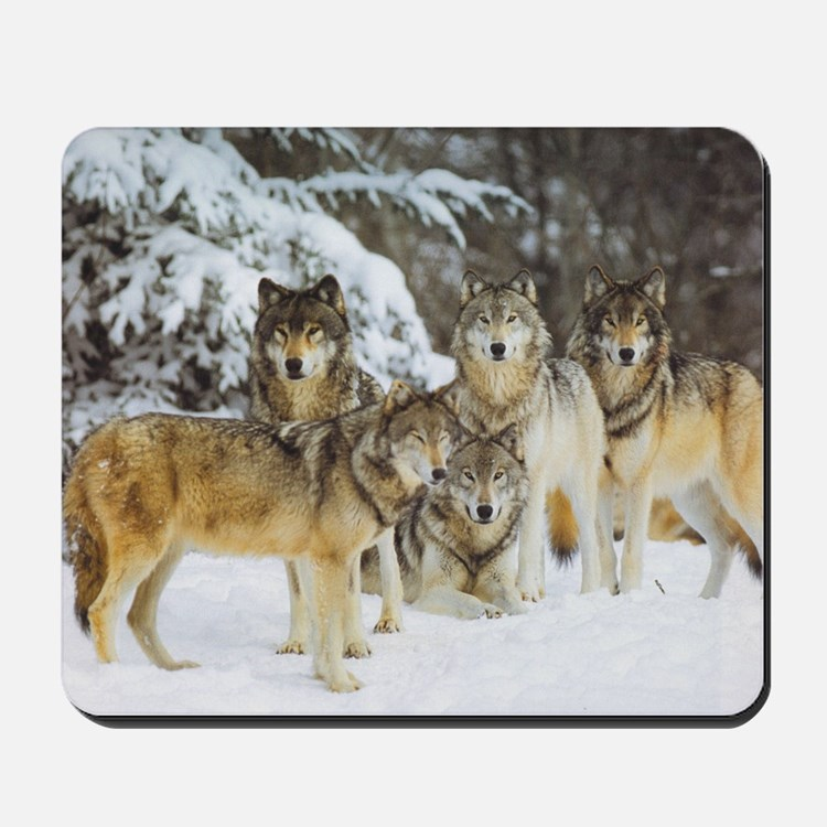 """""""Wolf Pack"""" Mousepad"""