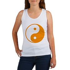 Orange Yin-Yang Women's Tank Top