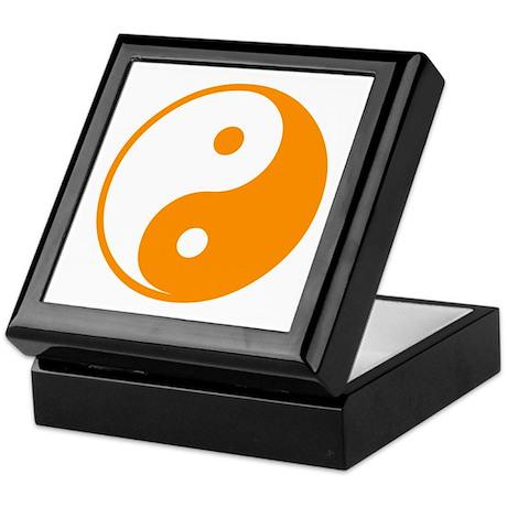 Orange Yin-Yang Keepsake Box