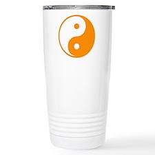 Orange Yin-Yang Travel Mug