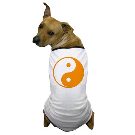 Orange Yin-Yang Dog T-Shirt
