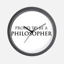 Proud Philosopher Wall Clock
