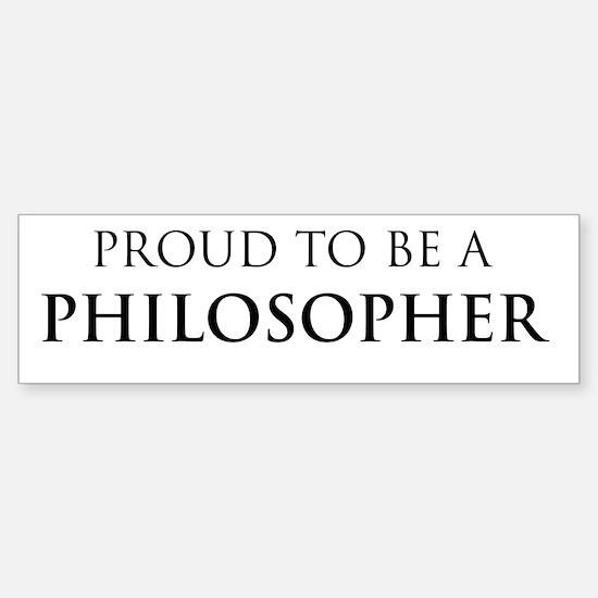 Proud Philosopher Bumper Bumper Bumper Sticker