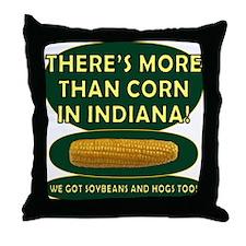 Indiana Corn Throw Pillow