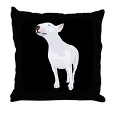 Unique Bull terrier Throw Pillow