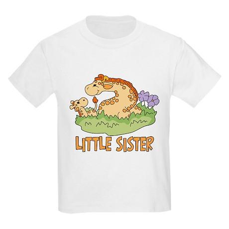 Two Giraffes Little Sister Kids Light T-Shirt