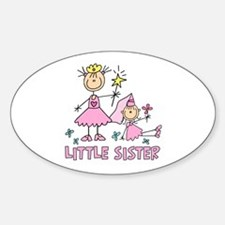Stick Princess Duo Little Sister Oval Decal