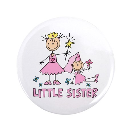 "Stick Princess Duo Little Sister 3.5"" Button"