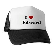 I Love Edward Trucker Hat