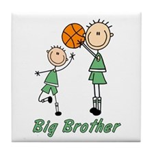Stick Basketball Big Brother Tile Coaster