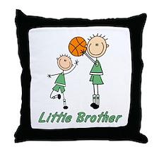 Stick Basketball Little Brother Throw Pillow