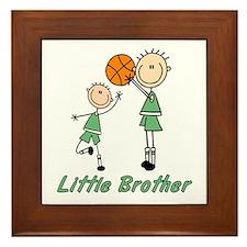 Stick Basketball Little Brother Framed Tile