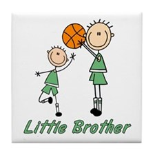 Stick Basketball Little Brother Tile Coaster