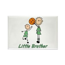 Stick Basketball Little Brother Rectangle Magnet