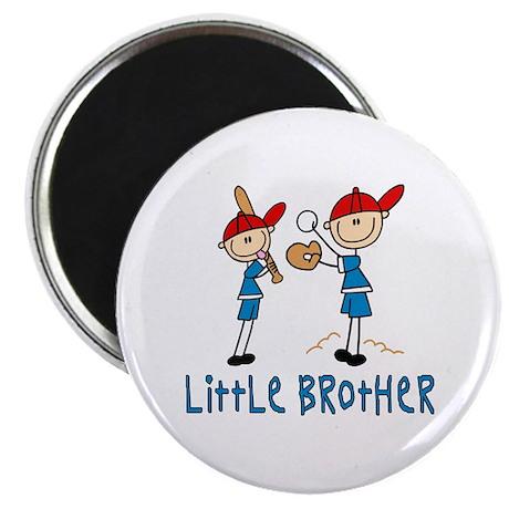 Stick Baseball Little Brother Magnet