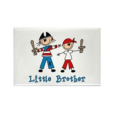 Stick Pirates Little Brother Rectangle Magnet
