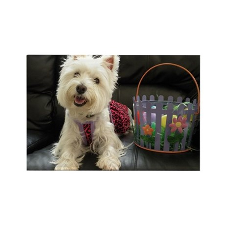 Easter Westie Rectangle Magnet