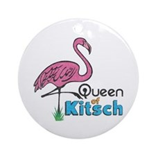 Queen of Kitsch Ornament (Round)