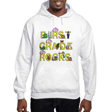 First Grade Rocks Hooded Sweatshirt