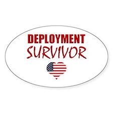 Deployment Survivor Oval Decal