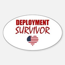 Deployment Survivor Oval Decal