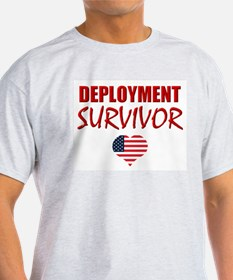 Deployment Survivor Ash Grey T-Shirt