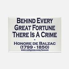 Balzac Quote - Rectangle Magnet
