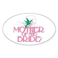 Hummingbird Mother of Bride Oval Decal