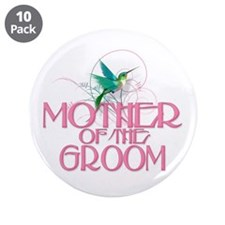 """Hummingbird Mother of Groom 3.5"""" Button (10 pack)"""