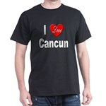 I Love Cancun (Front) Black T-Shirt