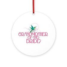 Hummingbird Grandmother Bride Ornament (Round)