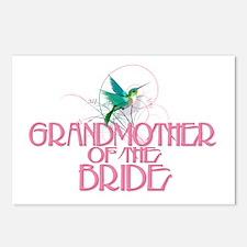 Hummingbird Grandmother Bride Postcards (Package o
