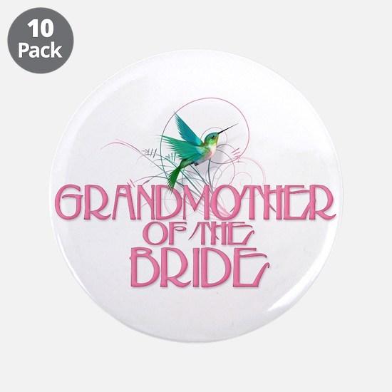 "Hummingbird Grandmother Bride 3.5"" Button (10 pack"