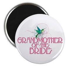 "Hummingbird Grandmother Bride 2.25"" Magnet (100 pa"