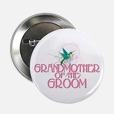 "Hummingbird Grandmother Groom 2.25"" Button"