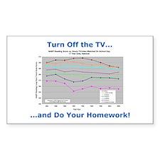 'Turn Off the TV...' Rectangle Sticker 10 pk)