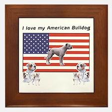 """""""I Love My American Bulldog"""" Framed Tile"""