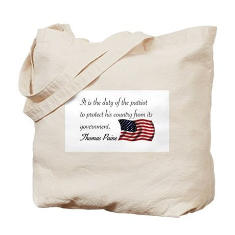 Duty of a Patriot Tote Bag