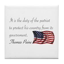Duty of a Patriot Tile Coaster