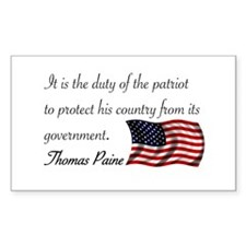 Duty of a Patriot Rectangle Decal