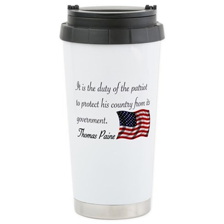 Duty of a Patriot Stainless Steel Travel Mug